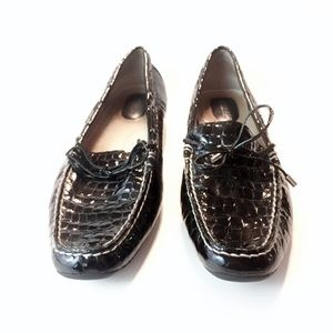 Croc Embossed Patent Leather Loafers
